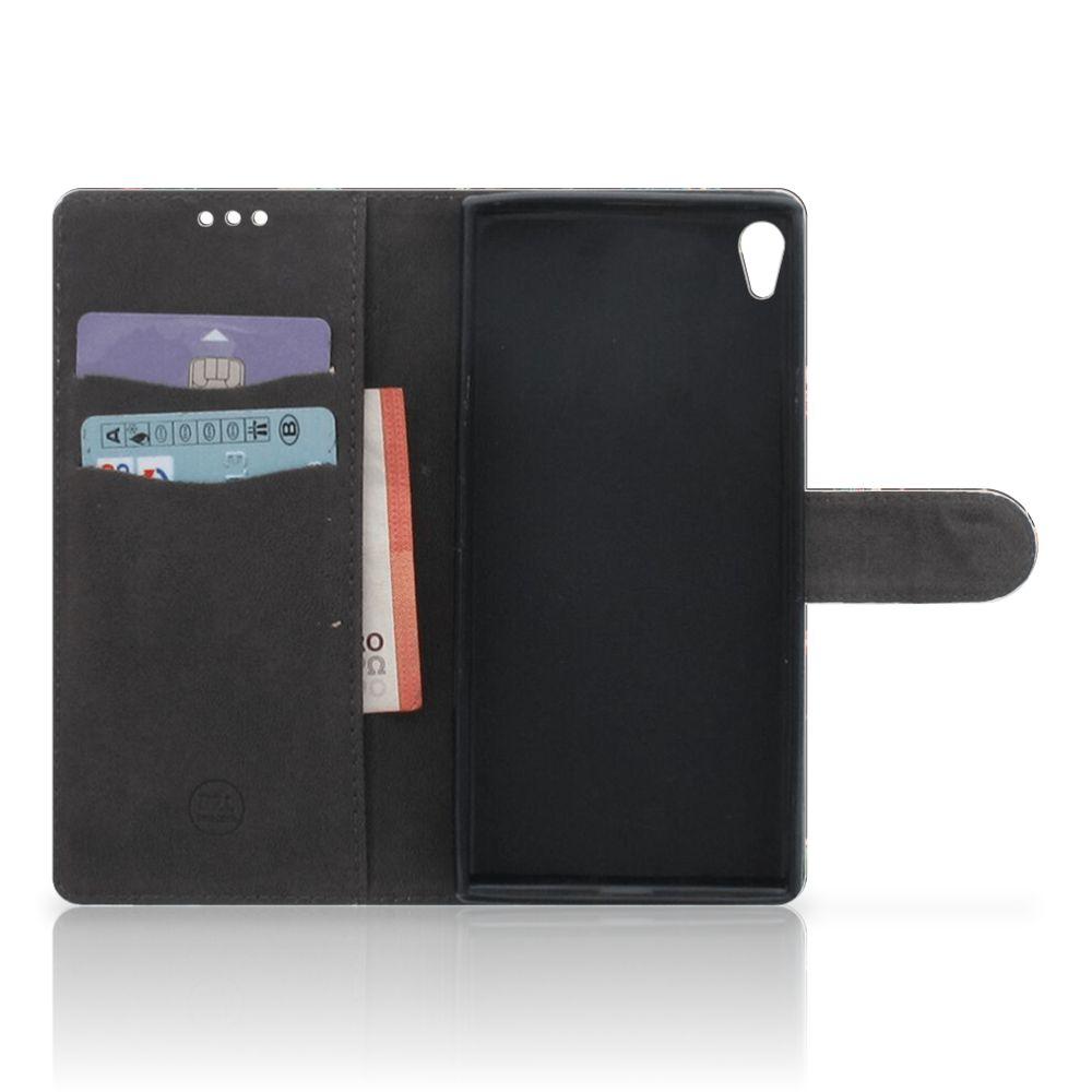 Sony Xperia XA Ultra Boekhoesje Design Pauw met Bloemen