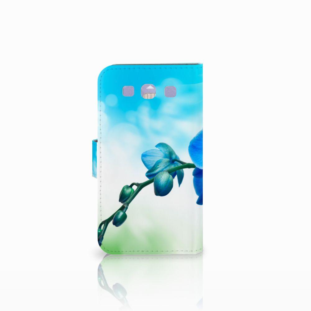 Samsung Galaxy S3 i9300 Hoesje Orchidee Blauw