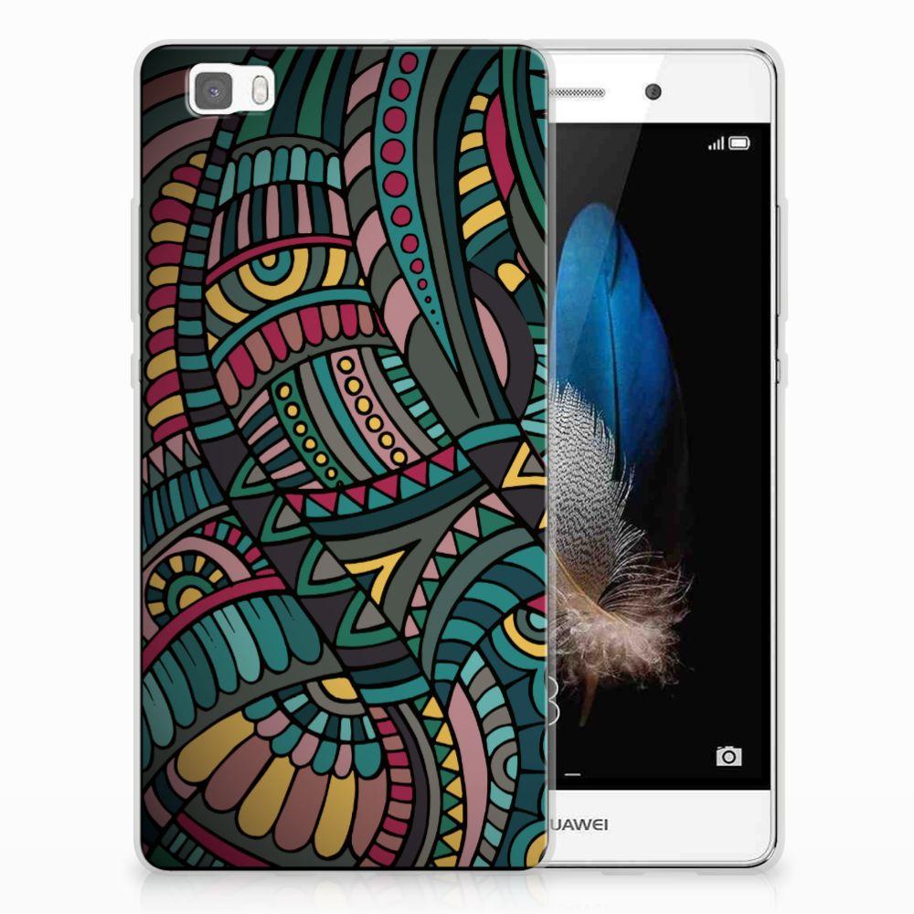 Huawei Ascend P8 Lite TPU Hoesje Design Aztec