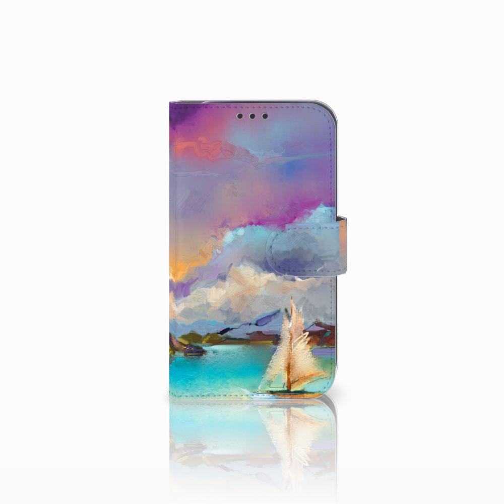 Samsung Galaxy Xcover 4 Uniek Boekhoesje Boat