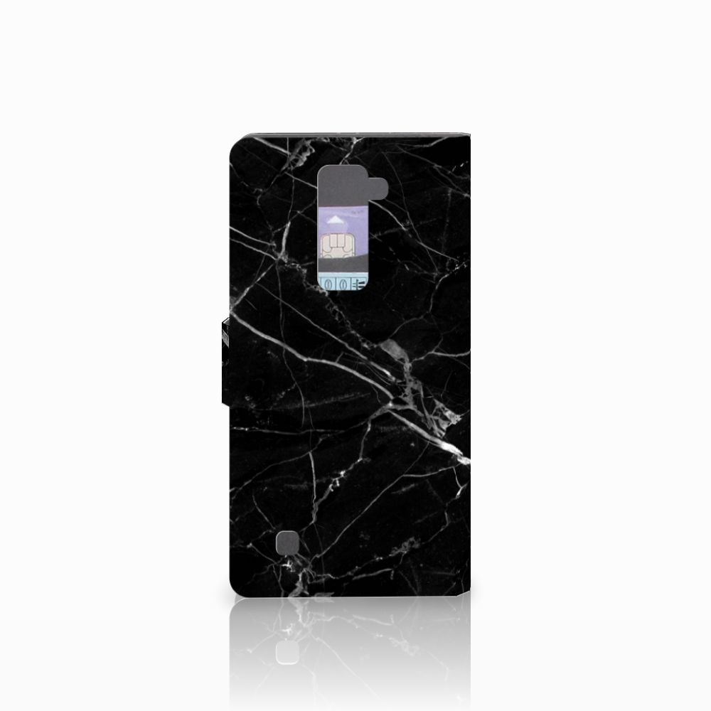 LG K10 2015 Bookcase Marmer Zwart