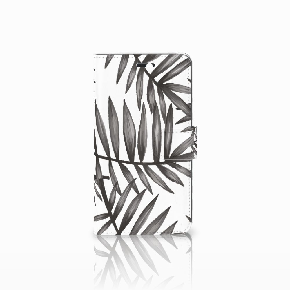 Huawei Y6 II | Honor 5A Uniek Boekhoesje Leaves Grey