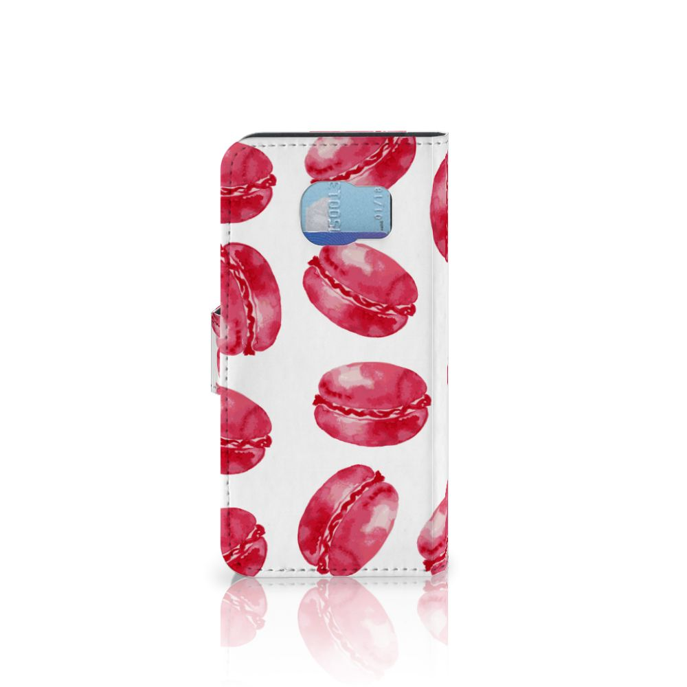 Samsung Galaxy S6 | S6 Duos Book Cover Pink Macarons