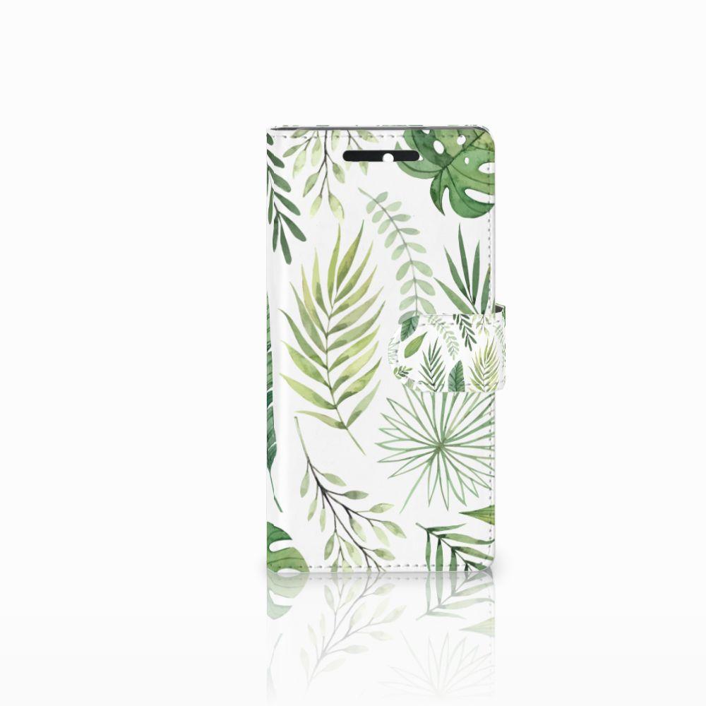 HTC Desire 628 Uniek Boekhoesje Leaves