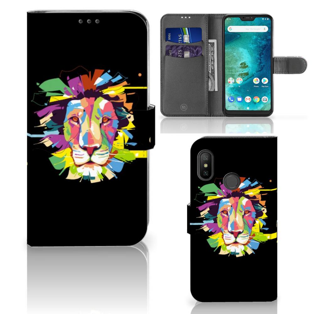 Xiaomi Mi A2 Lite Leuk Hoesje Lion Color