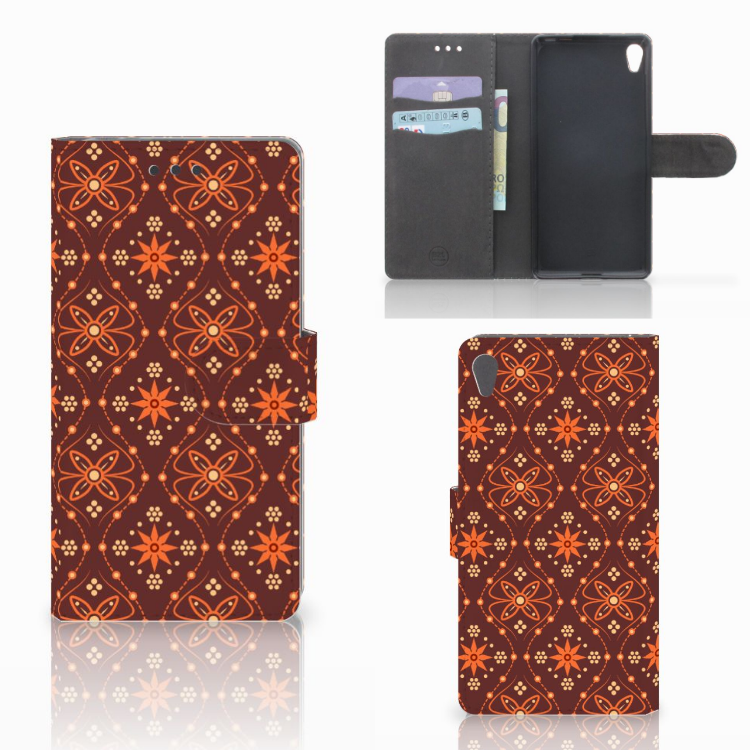 Sony Xperia E5 Telefoon Hoesje Batik Brown