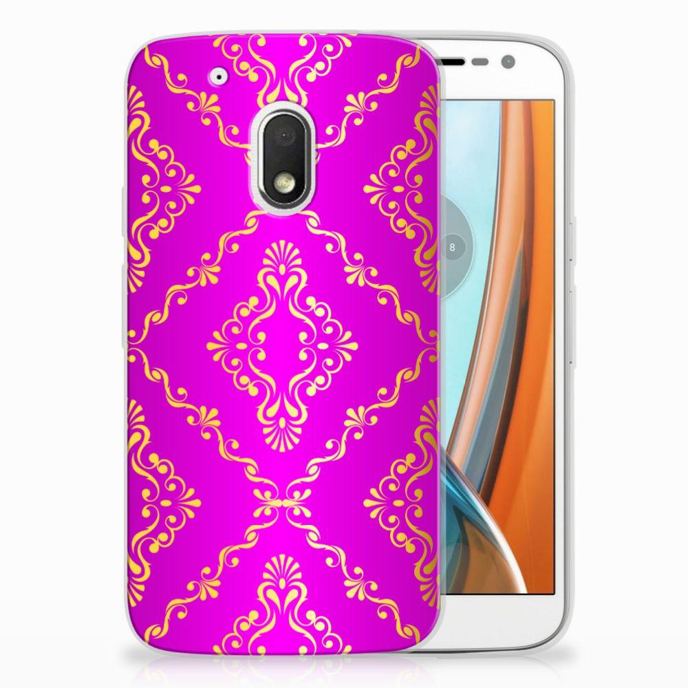 Motorola Moto G4 Play Uniek TPU Hoesje Barok Roze