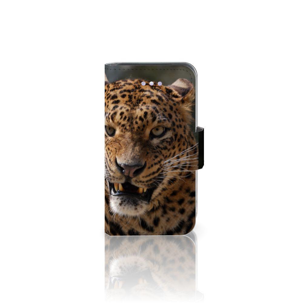 Apple iPhone 4   4S Uniek Boekhoesje Luipaard