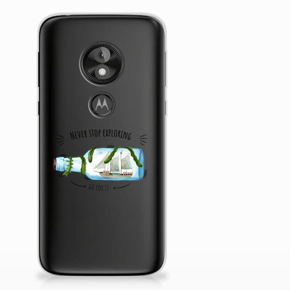 Motorola Moto E5 Play Telefoonhoesje met Naam Boho Bottle