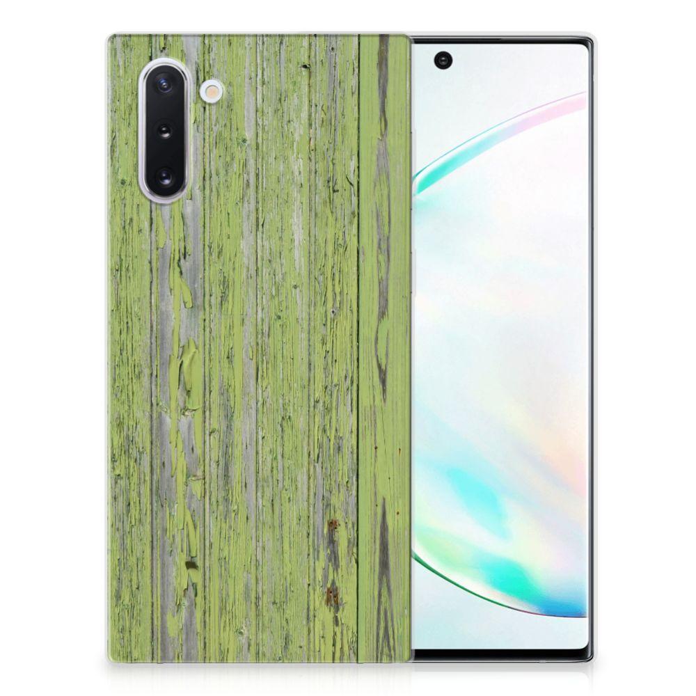 Samsung Galaxy Note 10 Bumper Hoesje Green Wood