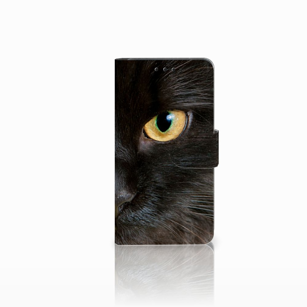 Huawei Y6 Pro 2017 Uniek Boekhoesje Zwarte Kat