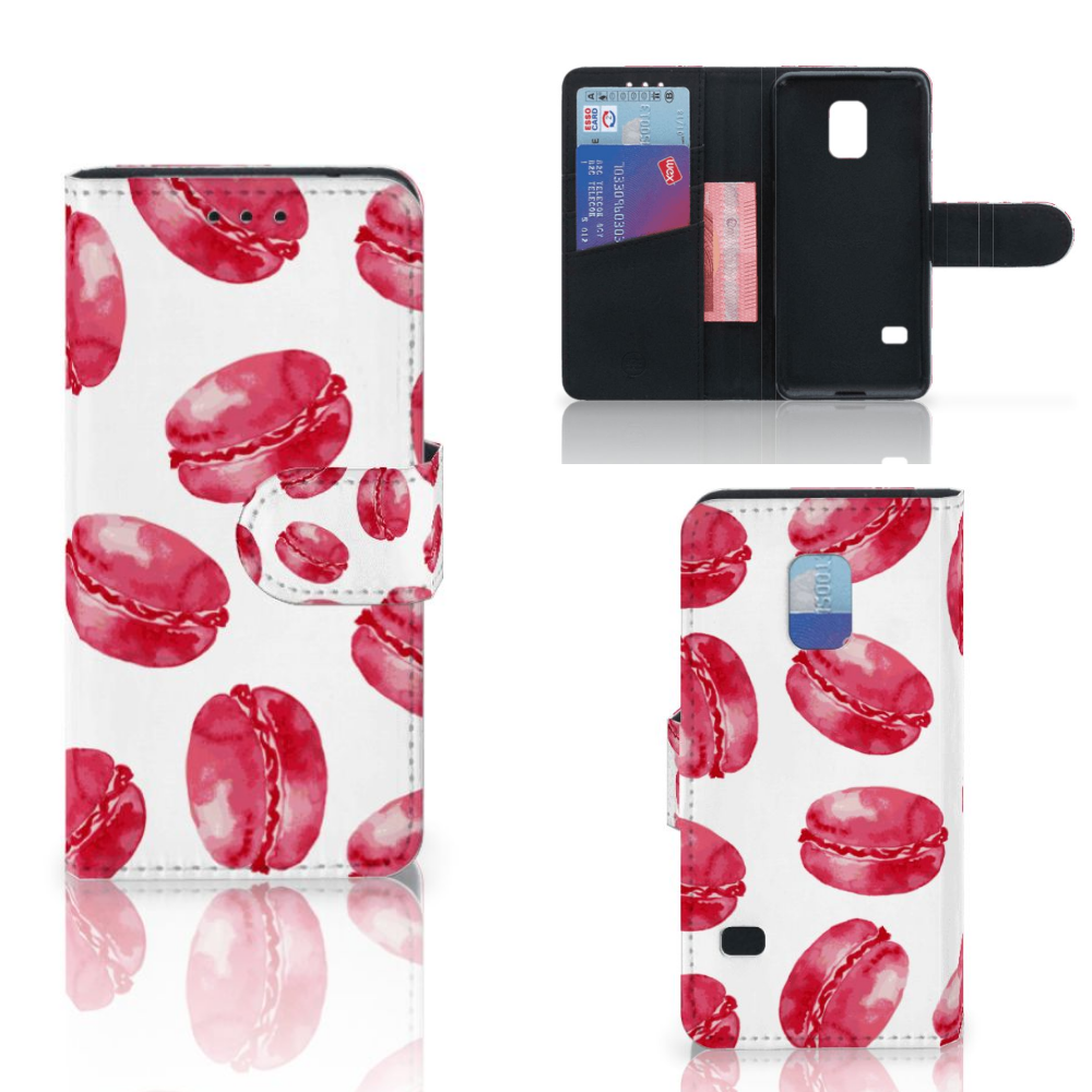 Samsung Galaxy S5 Mini Book Cover Pink Macarons