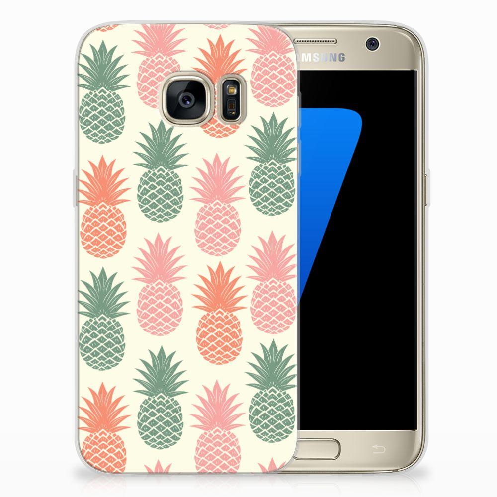 Samsung Galaxy S7 TPU Hoesje Design Ananas