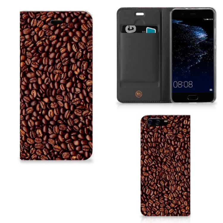Huawei P10 Flip Style Cover Koffiebonen