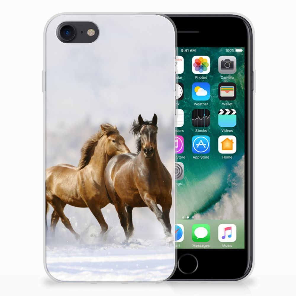 Apple iPhone 7 | 8 TPU Hoesje Paarden