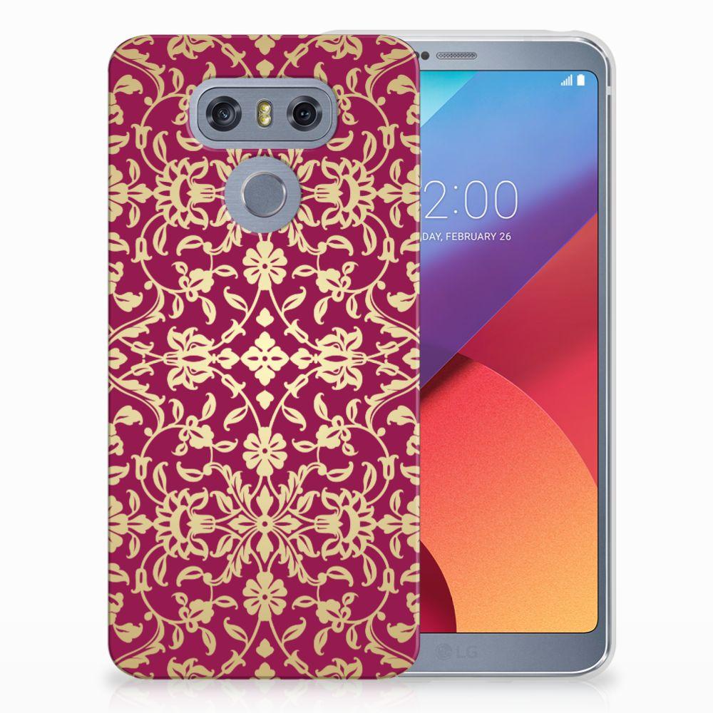LG G6 TPU Hoesje Design Barok Pink
