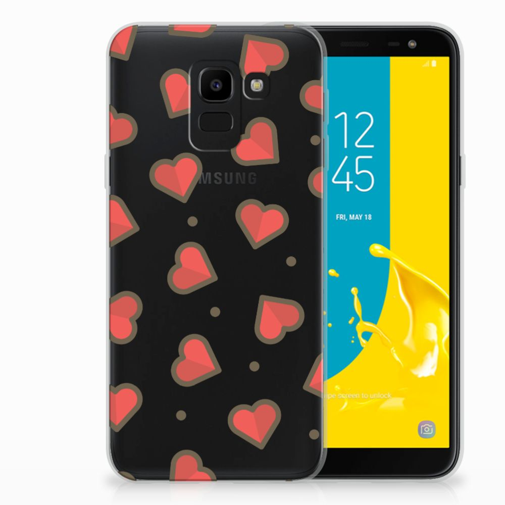 Samsung Galaxy J6 2018 TPU Hoesje Design Hearts