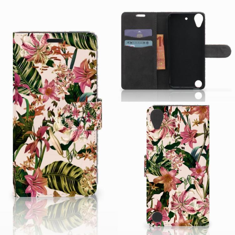 HTC Desire 530 Hoesje Flowers