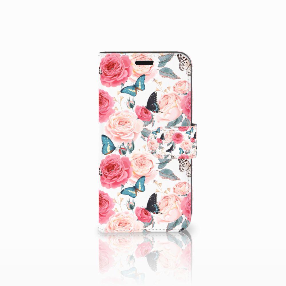 Huawei Nova Uniek Boekhoesje Butterfly Roses
