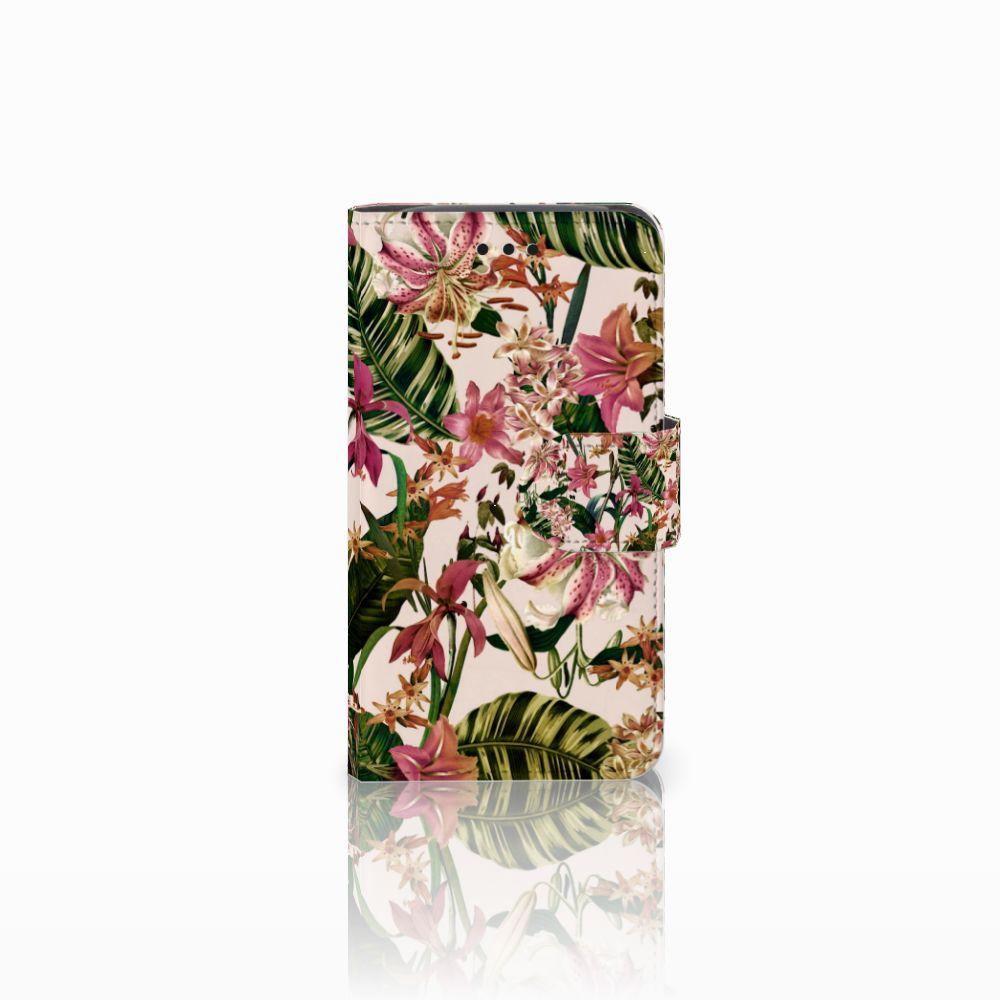 Samsung Galaxy Core i8260 Uniek Boekhoesje Flowers