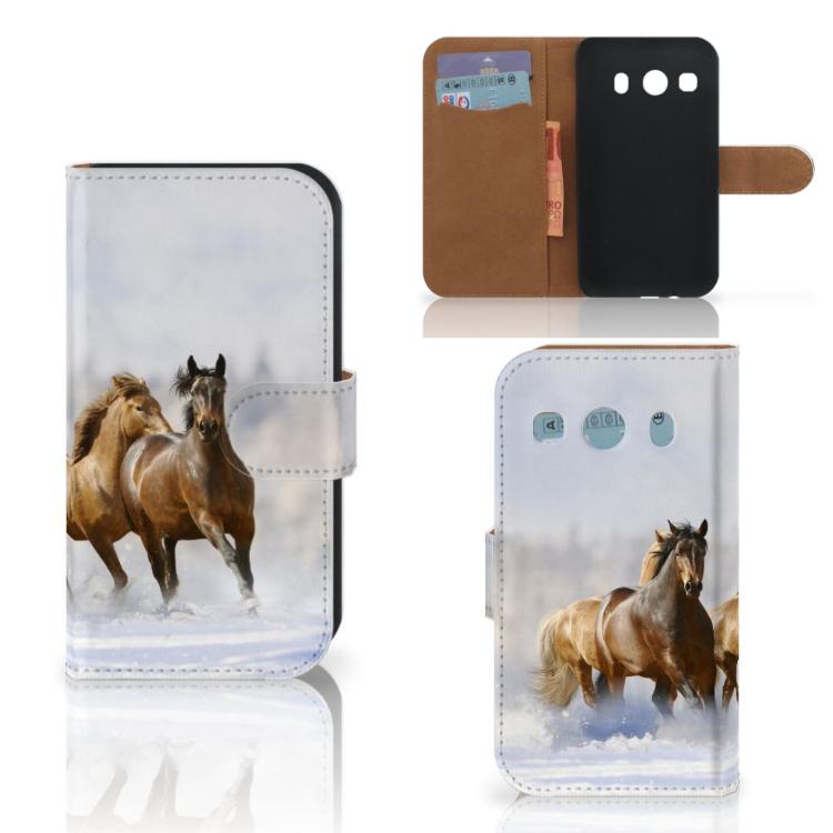 Samsung Galaxy Ace 4 4G (G357-FZ) Telefoonhoesje met Pasjes Paarden