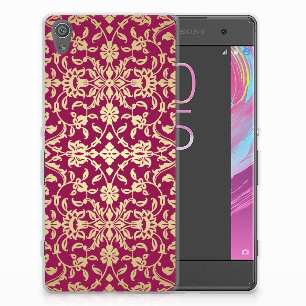 Sony Xperia XA | XA Dual TPU Hoesje Design Barok Pink