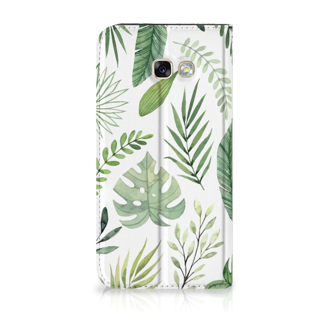 Samsung Galaxy A5 2017 Uniek Standcase Hoesje Leaves