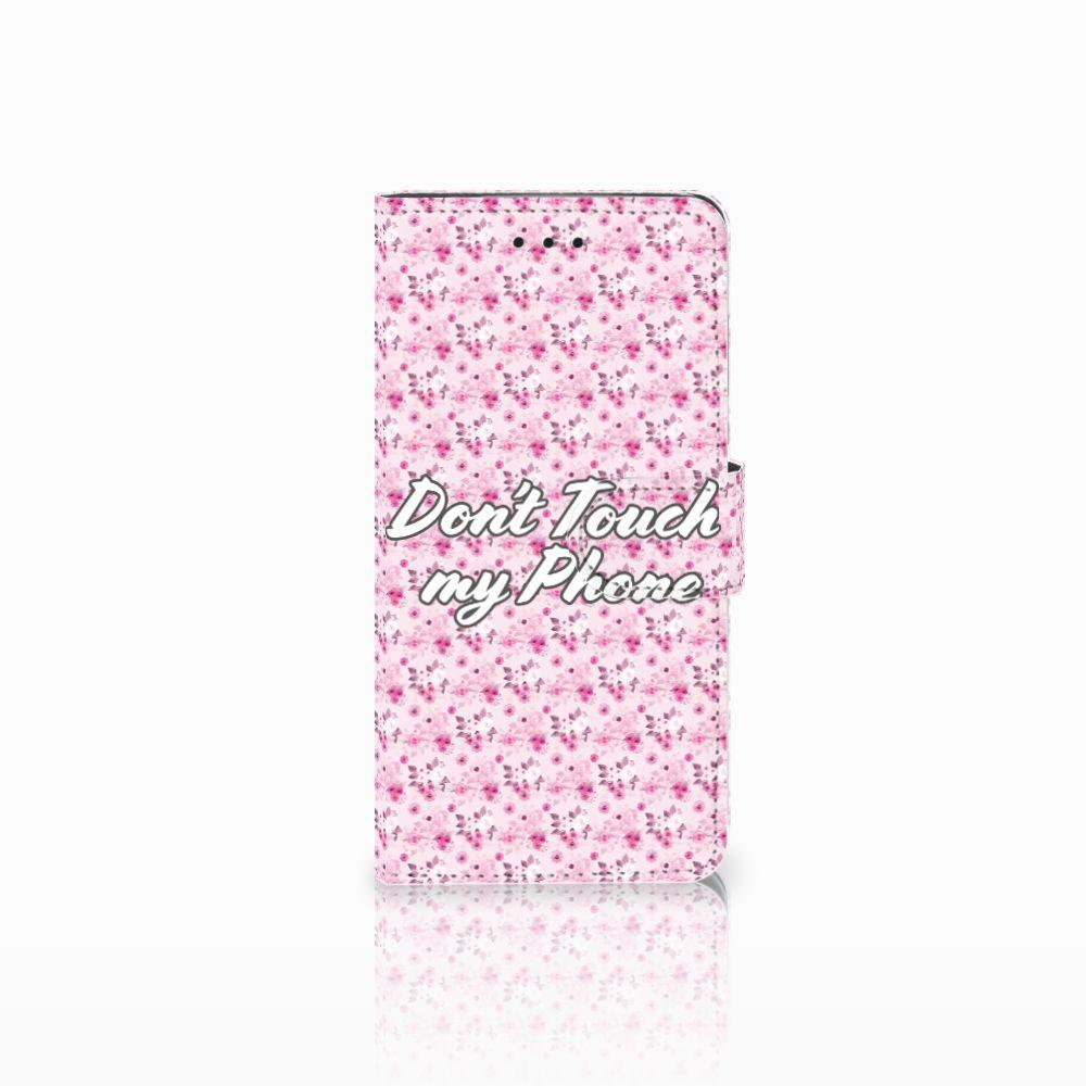 Huawei Y5 2018 Uniek Boekhoesje Flowers Pink DTMP