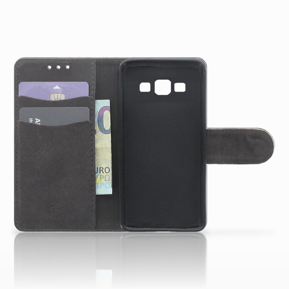 Samsung Galaxy A3 2015 Telefoonhoesje met Pasjes Leeuw