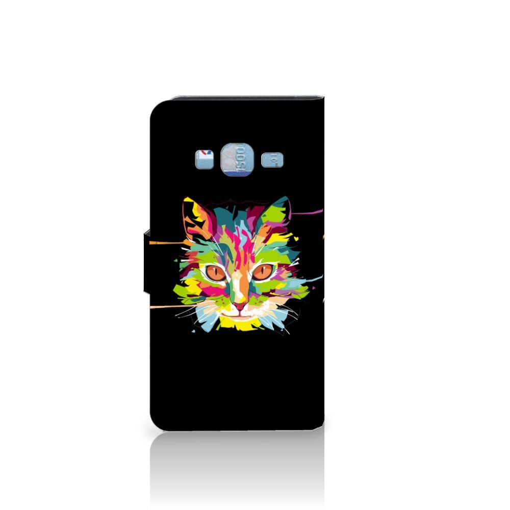 Samsung Galaxy J3 2016 Leuke Hoesje Cat Color
