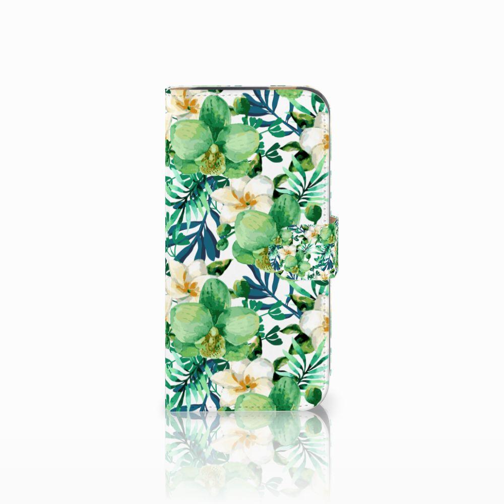 HTC One M8 Uniek Boekhoesje Orchidee Groen