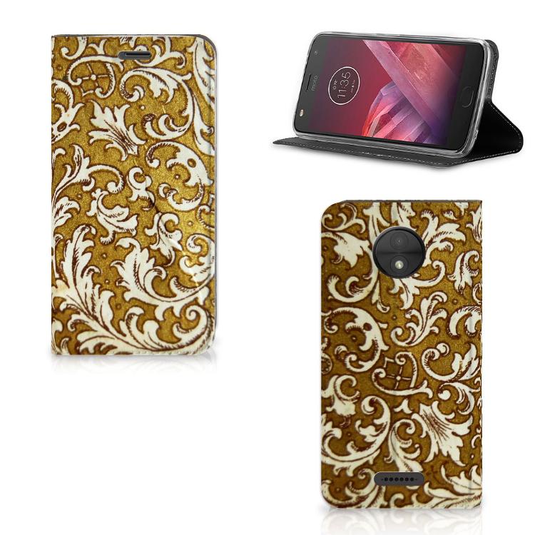 Telefoon Hoesje Motorola Moto C Barok Goud