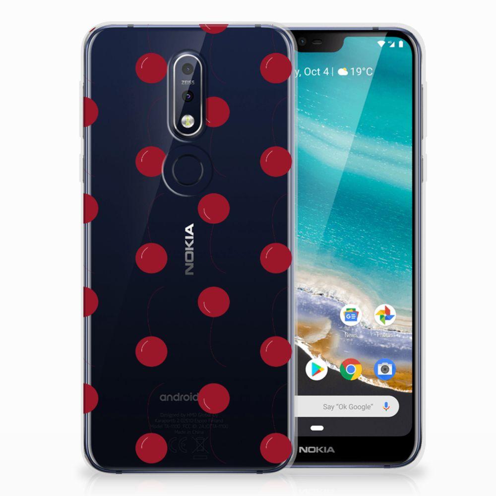 Nokia 7.1 Siliconen Case Cherries