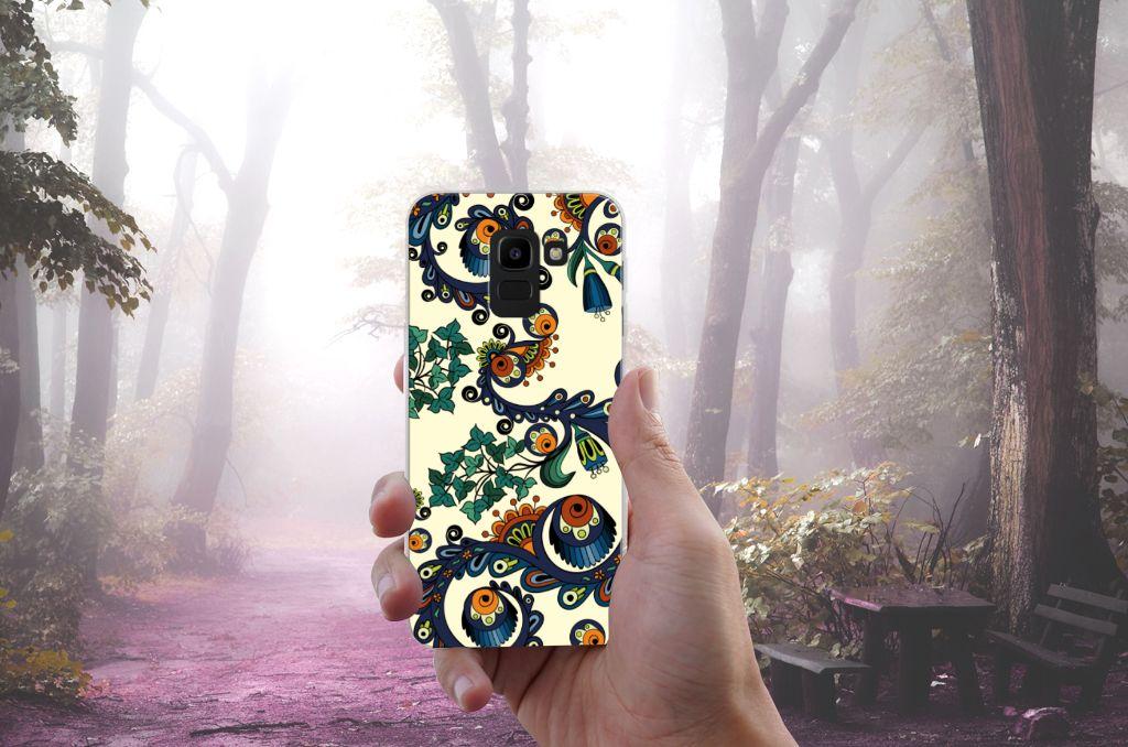 Siliconen Hoesje Samsung Galaxy J6 2018 Barok Flower