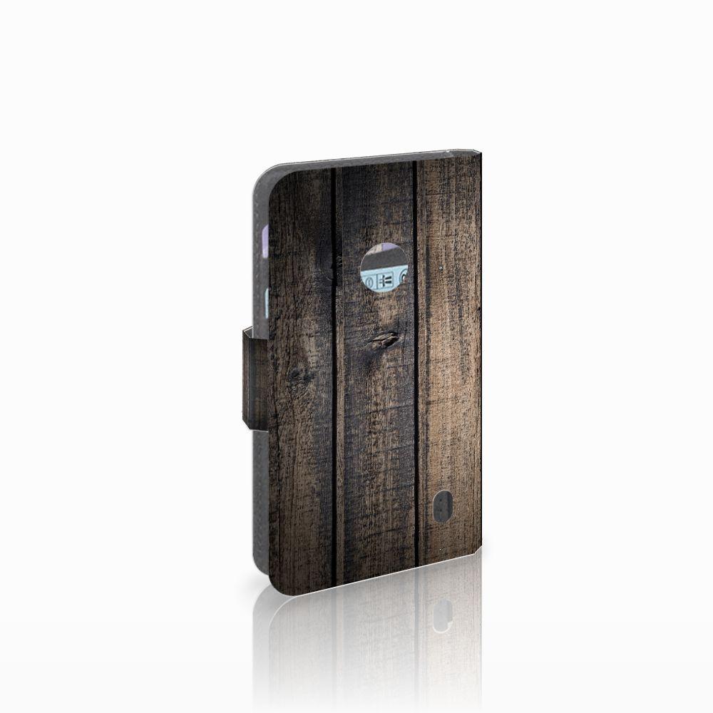 Nokia Lumia 520 Boekhoesje Design Steigerhout