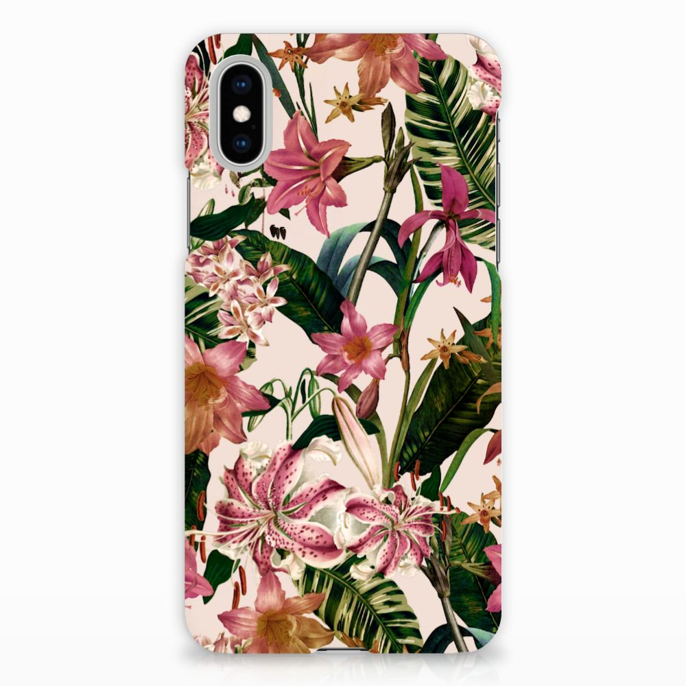 Apple iPhone X | Xs Uniek Hardcase Hoesje Flowers