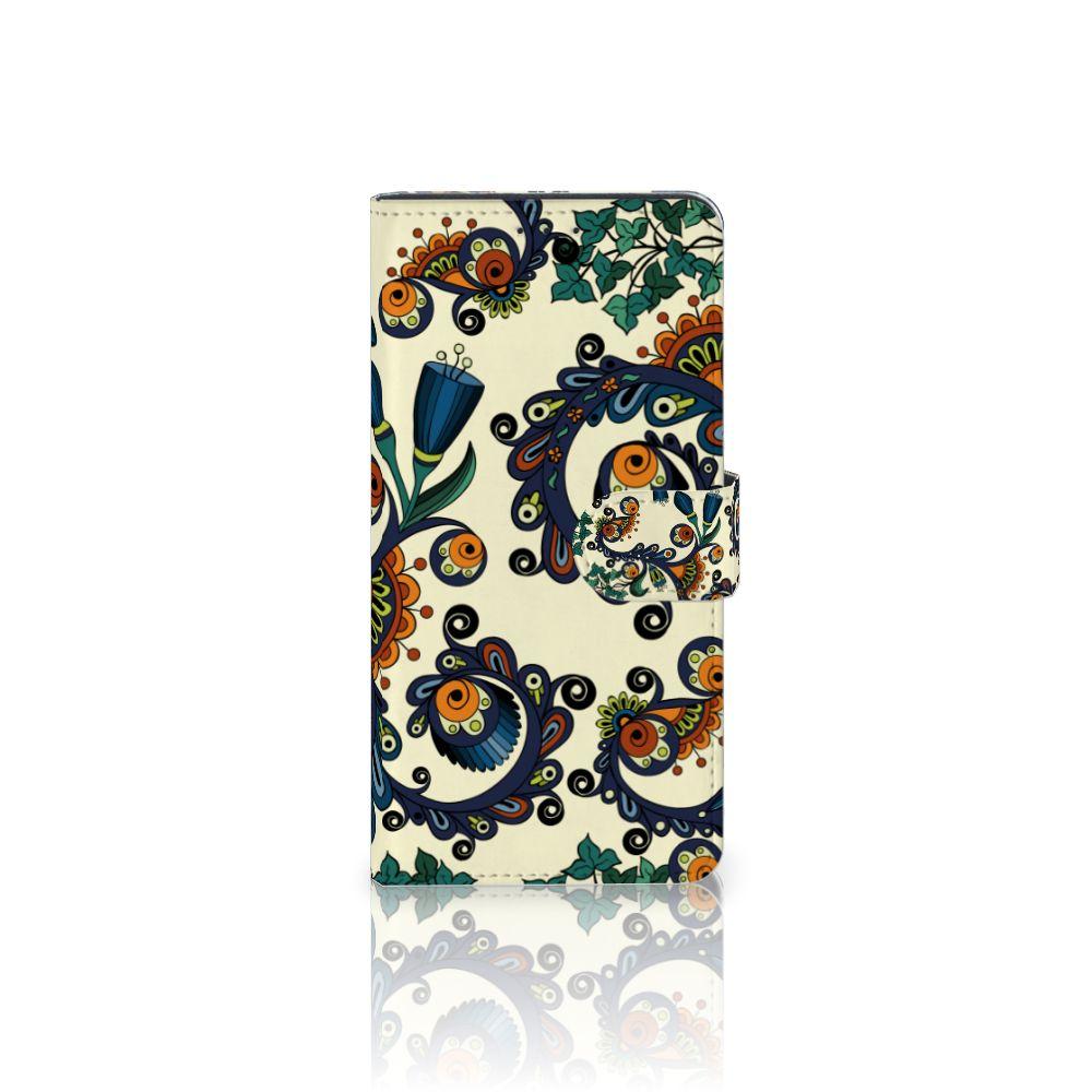 Motorola Moto Z Play Boekhoesje Design Barok Flower