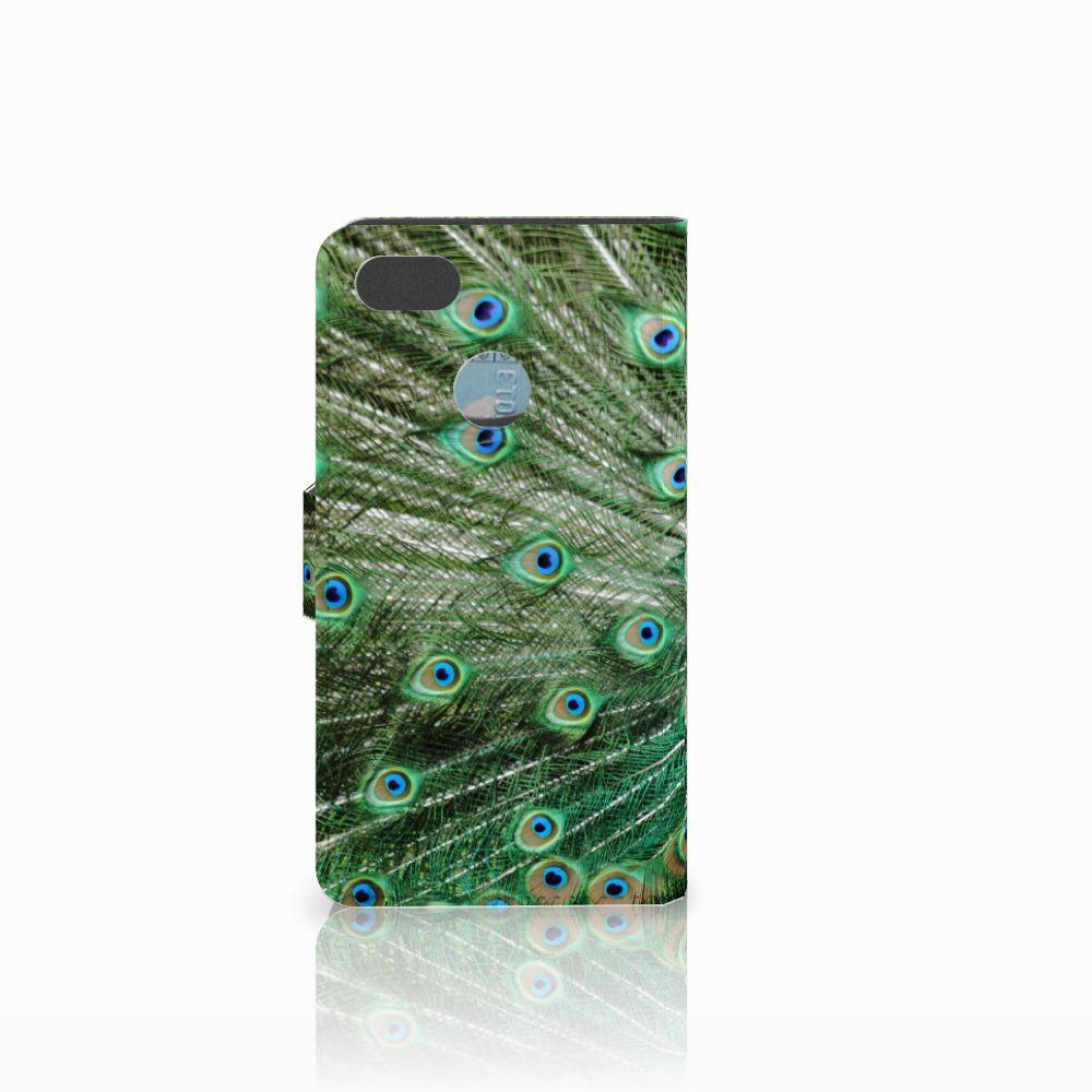 Huawei Y6 Pro 2017 Telefoonhoesje met Pasjes Pauw