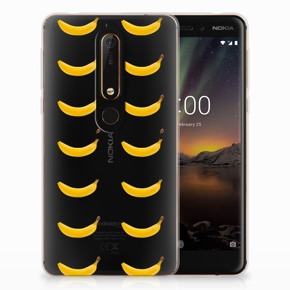 Nokia 6 (2018) Siliconen Case Banana