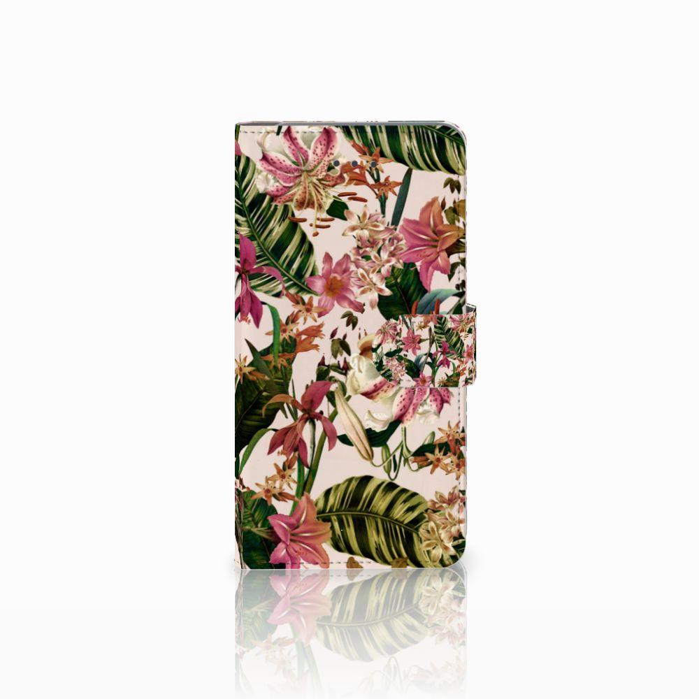Samsung Galaxy J7 (2018) Uniek Boekhoesje Flowers
