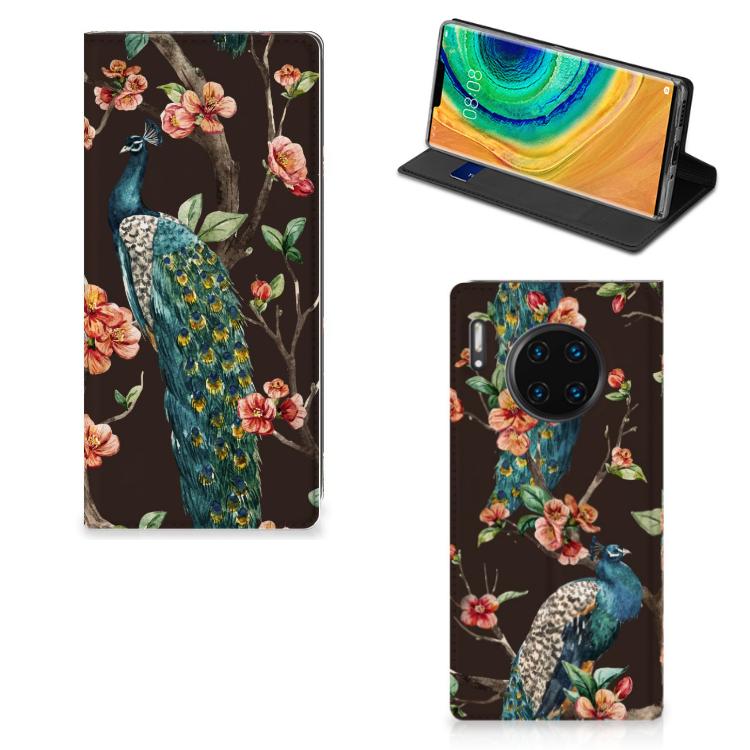 Huawei Mate 30 Pro Hoesje maken Pauw met Bloemen