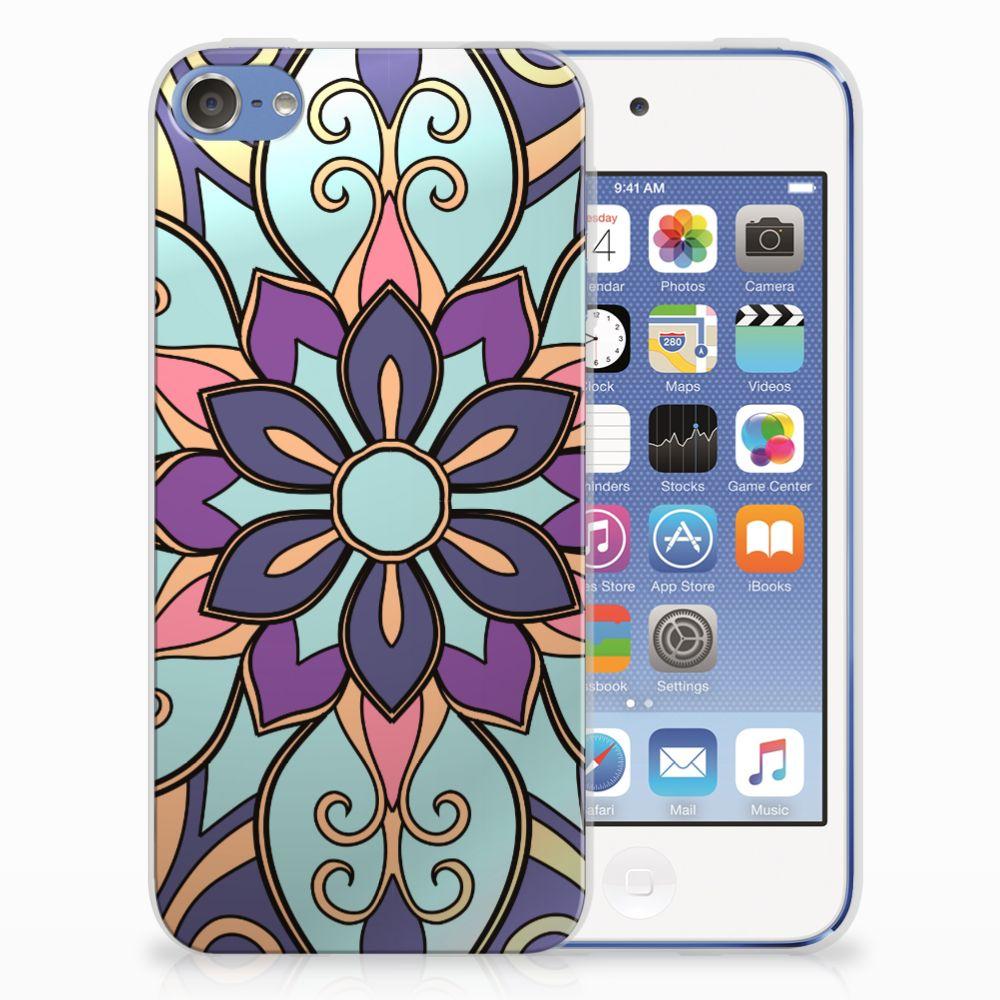 Apple iPod Touch 5 | 6 TPU Hoesje Design Purple Flower