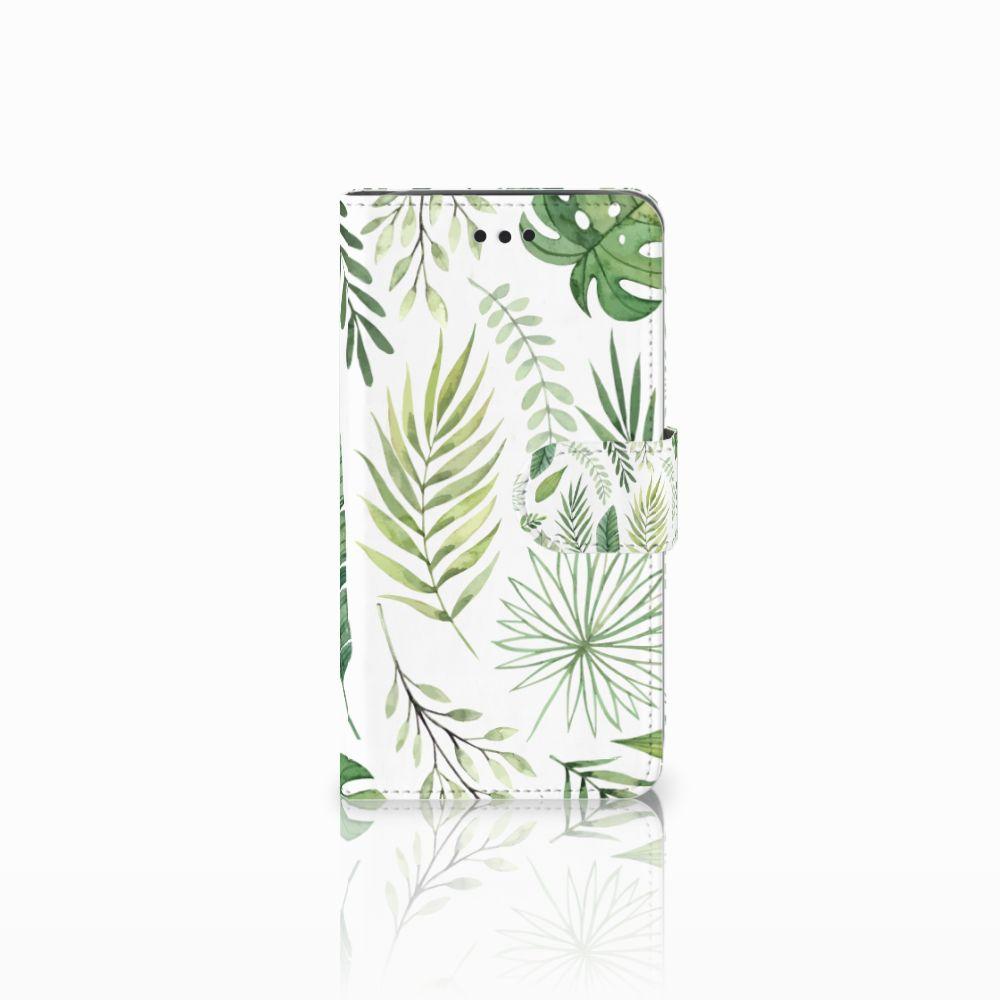 Samsung Galaxy J2 Pro 2018 Uniek Boekhoesje Leaves