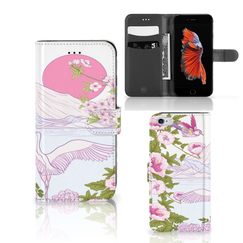 Apple iPhone 6 Plus | 6s Plus Telefoonhoesje met Pasjes Bird Standing