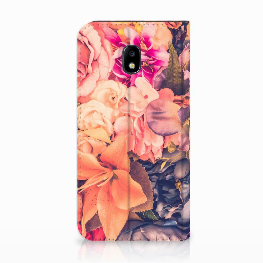 Samsung Galaxy J3 2017 Standcase Hoesje Design Bosje Bloemen