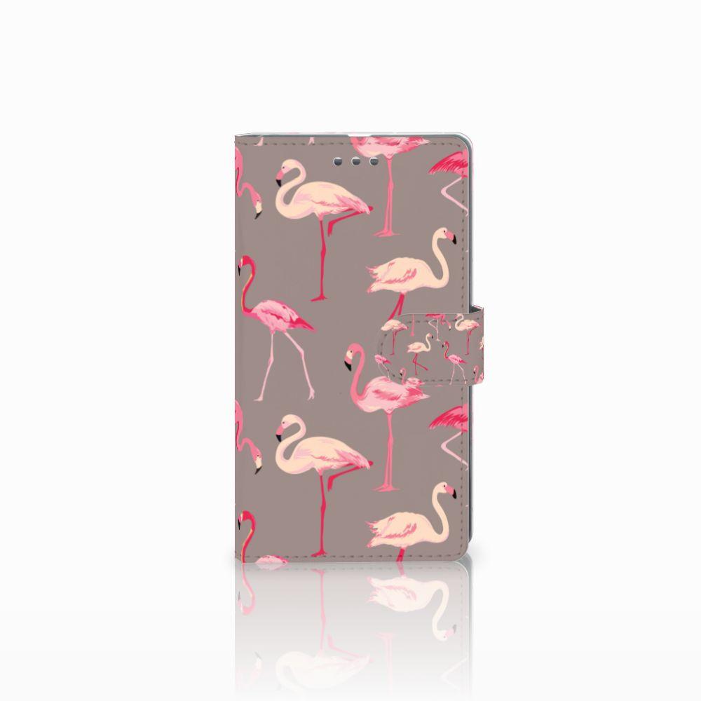 Microsoft Lumia 950 XL Uniek Boekhoesje Flamingo