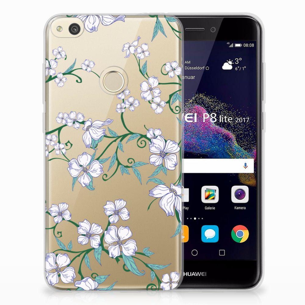 Huawei P8 Lite 2017 Uniek TPU Case Blossom White