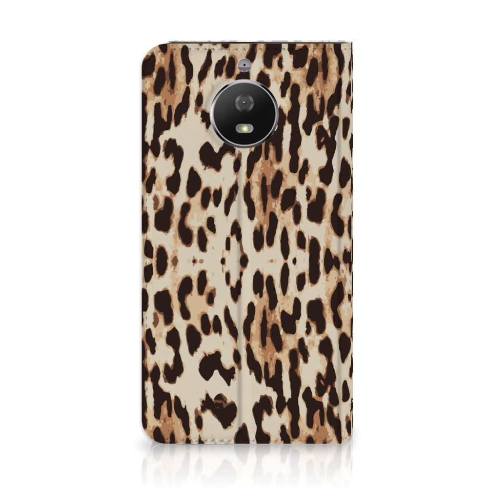 Motorola Moto G5S Uniek Standcase Hoesje Leopard
