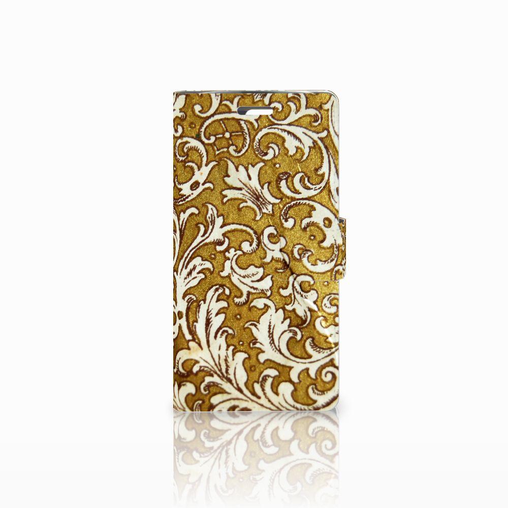 Wallet Case LG K10 2015 Barok Goud