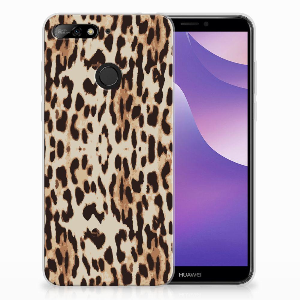Huawei Y6 (2018) Uniek TPU Hoesje Leopard
